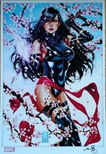 2016 SDCC MARK BROOKS PSYLOCKE ART PRINT SIGNED MARVEL COMICS X-MEN X-FORCE