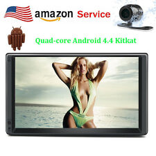 7'' Android 4.4 3G WiFi Double 2DIN Car Radio Stereo No DVD Player GPS HD+Camera