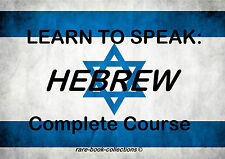 LEARN TO SPEAK HEBREW - LANGUAGE COURSE - TEXTBOOK & 22 HRS AUDIO MP3 ALL ON DVD