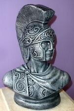 LARGE REPRODUCTION ROMAN SOLDIER TROJAN BUST SCULPTURE