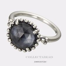 Authentic Pandora Silver Midnight Star Blue Crystal Ring Size 48 (4) 190910NBC