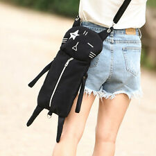 New Black Cat type Backpack Women Shoulder Bag Backbag Canvas School Bag