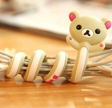 FD2400 San-X Rilakkuma Bear Earphone Headphone Cable Cord Organize Wrap Wind 1pc