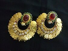 indian Fashion Jewelry New coin temple earring bollywood ETHNIC gold traditional
