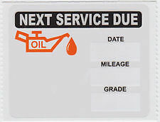 **50**Oil Change Reminder Stickers /  Clear Static Cling* Fast Free Shipping !!!
