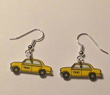 Taxi Earrings Yellow Cab Car Charms