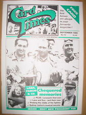 CARD TIMES MAGAZINE FORMERLY CIGARETTE CARD MONTHLY No 70 SEPTEMBER 1995