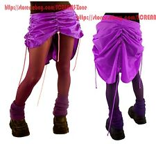 Cyberdog Asymmetrical Purple High Low Rivet Ruffle Draped Goth Cyber Rave Skirt