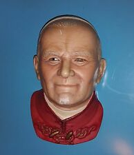 Pope John Paul II Legend Products 1980 Plaster Head Bust Religious Wall Statue