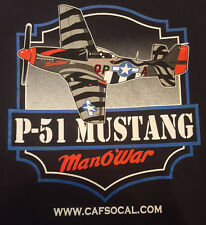 P51 Mustang Large T Shirt Manowar SO CAL Wing CAF Ghost Squadron NWT Unworn