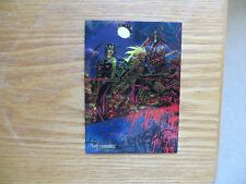 1995 WILDSTORM WETWORKS CHROMIUM CARD SIGNED MICHAEL GOLDEN ART, WITH POA