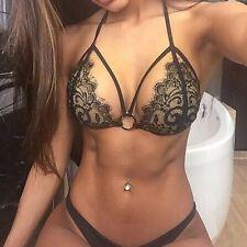 Bikini Schwarz Spitze Hot Style Set Neu transparent OVP Gr XL Sexy Messeneuheit