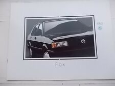 Volkswagen VW 1992 FOX Deluxe Dealer SALES BROCHURE