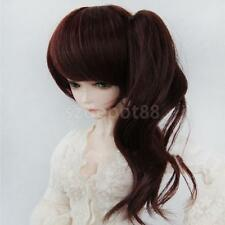 Deep Brown Pony Tail Bang Full Wig Hair for 1/4 BJD MSD SD DOD Dollfie DOLL