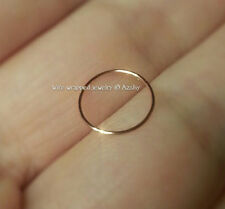 Nose Ring 8mm 14k SOLID Gold Small 24g Hoop Cartilage Helix Tragus Earring
