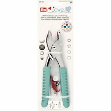 PrymLove Vario Pliers with ColorSnaps Tools and Piercing Tool, Metal, Turquoise