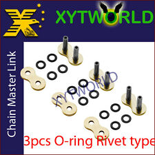 3 Motorcycle O Ring 525 Chain MASTER JOINT LINKS -RIVET