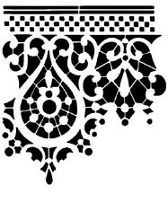 ORNAMENT STENCIL WAND SCHABLONE GRECA DECOR BAROCK DAMASK XL WANDSCHABLONE I2