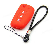 Red Silicone Case Cover For Nissan Rogue Sylphy Pulsar Sentra Remote Flip Key