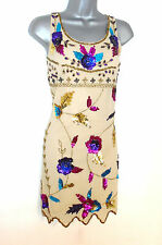 BNWT Stunning Lydia Bright Embellished Floral Evening Cocktail Dress Size 12 NEW