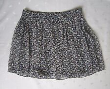ZARA Fully Lined Pleated Floral Chiffon Mini Skirt ~ Size XS ~ NWOT