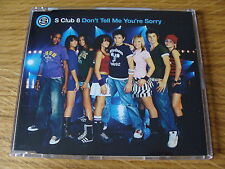 CD Single: S Club 8 : Don`t Tell Me You`re Sorry