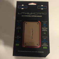 LINEAR FLUX GOLD LITHIUMCARD RECHARGEABLE PORTABLE ULTRA THIN HYPERCHARGER USB