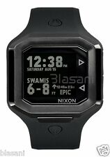 Nixon Original Ultratide A476-001 All Black Silicone 45mm Watch