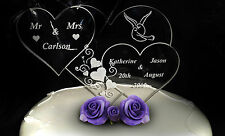 Personalised Wedding Bridal Mr & Mrs Good Luck Gift / Lucky Keepsake Cake Topper