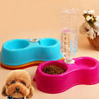 New Plastic Pet Dog Puppy Cat Automatic Water Food Dispenser Dish Bowl Feeder