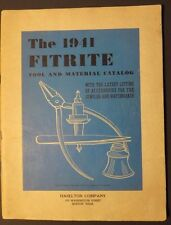 Vintage 1941 Fitrite Tool & Material Catalog ~ Haselton Company ~ Watch Making