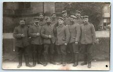 ANTIQUE Vintage WW1 GERMAN Real Photo RPPC Postcard SOLDIERS IN UNIFORM