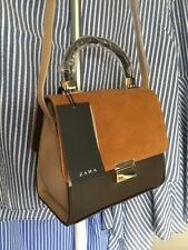 ZARA MINI CITY BAG SPLIT SUEDE LEATHER FLAP CROSSBODY MESSENGER SATCHEL RETRO