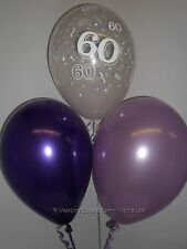 30 60th Birthday Party Helium or Air Balloons Clear Purple Lilac Decorations