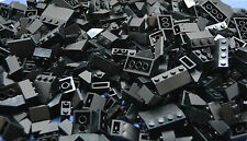 LEGO 100 x Dachsteine Dachziegel schwarz | roof bricks black normal und invers