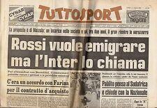 rivista TUTTOSPORT - 21/07/1980 N. 194 ROSSI VUOLE EMIGRARE