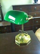 Executive Banker Student Piano Lamp Catalina Lighting Green Shade brass finish