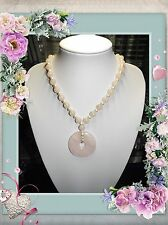 ROSE QUARTZ HANDMADE UNIQUE ONE OF A KIND BEADED NECKLACE JEWELLERY @ JAY WOLFE