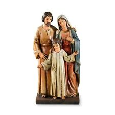 JESUS HOLY FAMILY STATUE Virgin Mary Jesus Joseph hand Painted figure Catholic