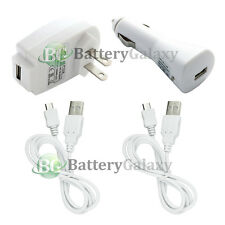2 USB Cable+Car+Wall AC Charger for Motorola Moto X Nexus 5 LG G2 Nokia Lumia