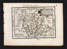 PAYS DE LA LOIRE, SARTHE, LE MANS Carte geographique antique map ORTELIUS 1601