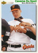 163 BEN MCDONALD BALTIMORE ORIOLES BASEBALL CARD UPPER DECK 1992