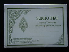 SUKHOTHAI IN COLOUR PICTURES GREETING FROM THAILAND 12 VIEW FOLDER POSTCARD