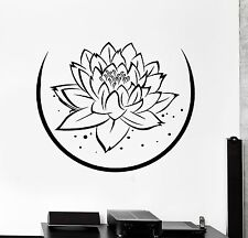 Wall Sticker Lotus Floral Flower Buddha Chakra Zen Vinyl Decal (z2948)