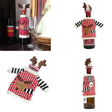 Xmas Santa Wine Bag Bottle Cover Deer Table Decor Christmas Gifts Caps Carriers