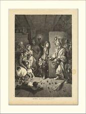 SANKT NIKOLAUS NIKLAS KRAMPUS BESCHERUNG HOLZSTICHL1309