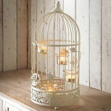 SHABBY Chic VINTAGE LANTERNA BIRDCAGE TEALIGHT Holder funzione Decorativa