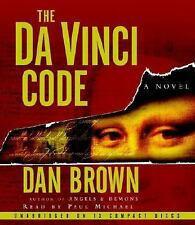 The Da Vinci Code 13 CD Audio Book by Dan Brown, Preformed by Paul Michael