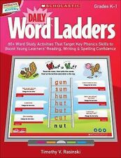 Daily Word Ladders (Gr. K-1) 80+ Word Study Activities to Boost confidence.  CD