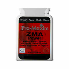ZMA PRO TESTOSTERONE BOOSTER MUSCLE GROWTH STRENGTH MAGNESIUM B6 90 x1000mg caps